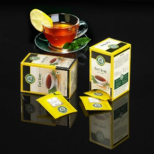 The Lebensbaum box and individual teabags have been wrapped with NatureFlex NVR film