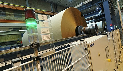 The mill produces three types of kraftliner