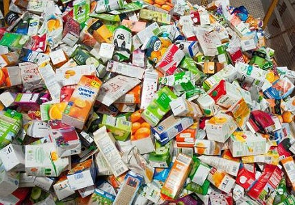Recycling collections of beverage cartons in the UK