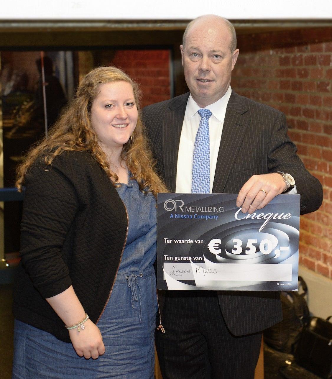 Laura Melis with AR Metallizing CEO Bart Devos