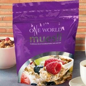 One World purple muesli pouch