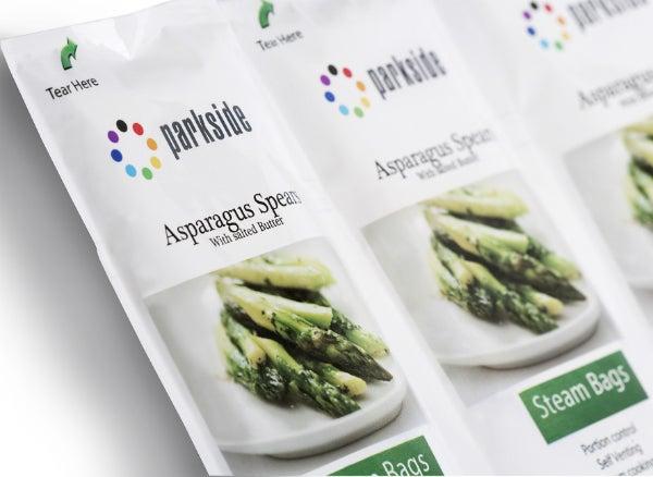 asparagus steam bag