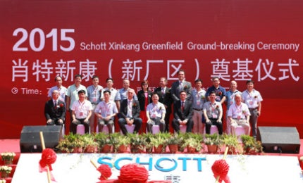 Schott initiated construction of a new pharmaceutical packaging plant in July 2015.