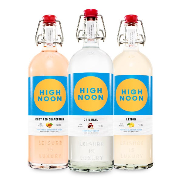 high noon vodka bottles