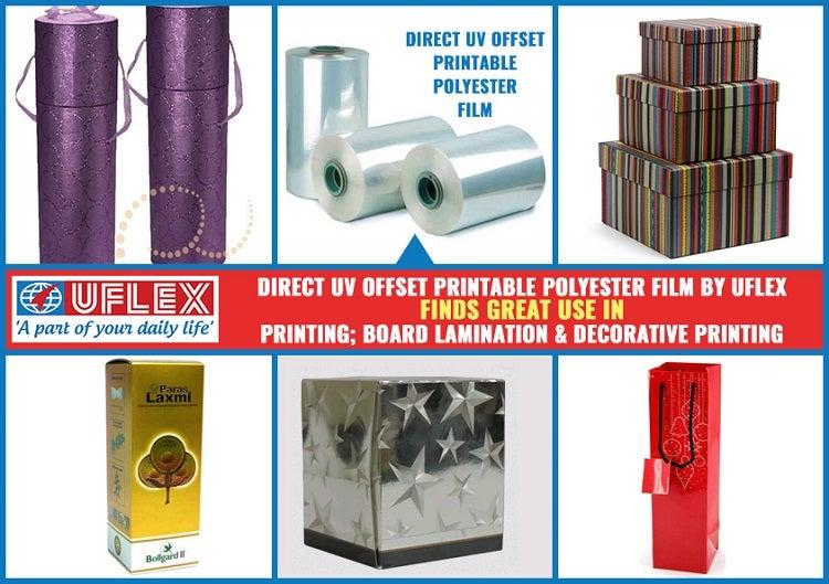 Direct UV Offset Printable Polyester Film