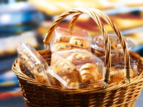 pastries in basket