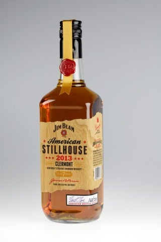 Jim Beam Stillhouse_Wood Veneer Label
