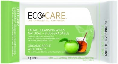ECOCARE facial wipes