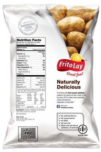 Frito-Lay pack with GF labelling