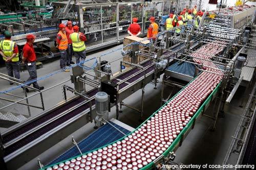 Coca-Cola canning line