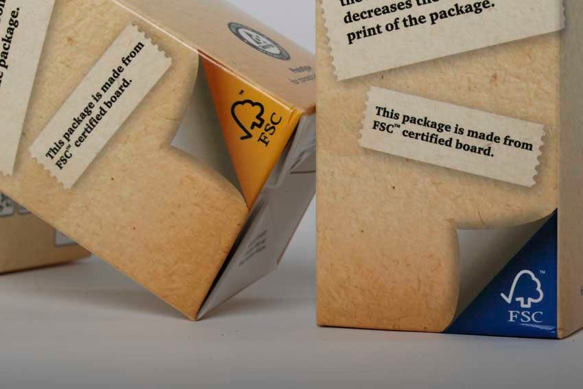 FSC-labeled carton packages